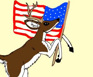 Deer is patriotic