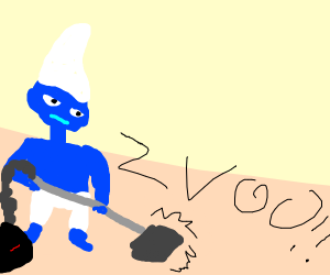 Smurf Vacuuming