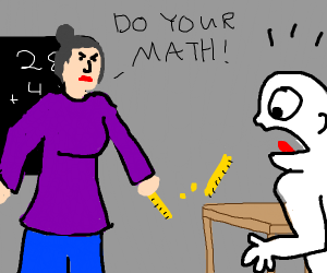 angry math teacher smashes ruler on table