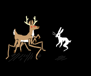 Spider deer and Ghost bunny