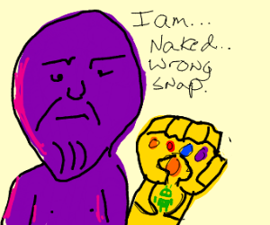 Infinity Gauntlet Android with a naked Thanos