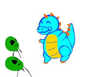 cool dragon that aliens like