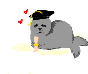 Seal graduated