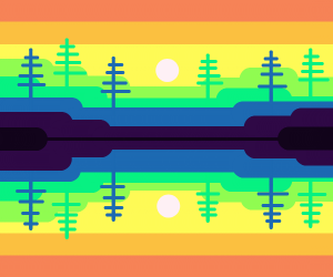Artistic interpretation of the woods