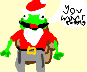 kermit santa asks if u want exam