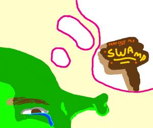 Shrek misses his swamp