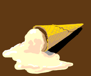 melted ice cream cone