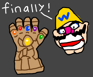 Wario finally acquires the infinity gauntlet