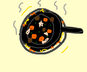 something cooking on a stovetop