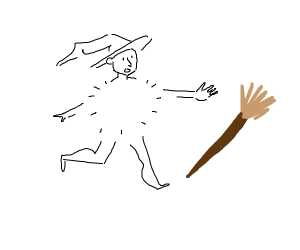 bodyless witch cant reach her broom