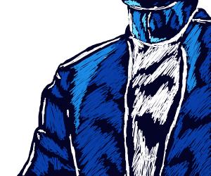 A Blue Man's Shirt