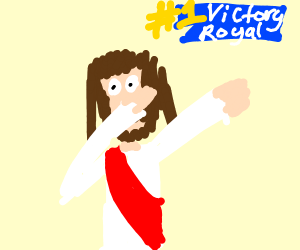 jesus hits dab when he gets victory royale
