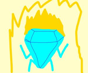 diamond tries to go super saiyan
