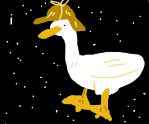 space duck with sherlock hat