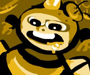 Honey bee tragically overdoses on pollen