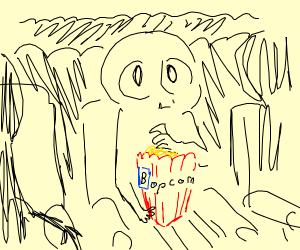 Popcorn with B Emoji
