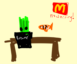 Celery at a Job Interview with Nemo.