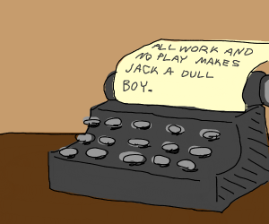 A story on a typewriter