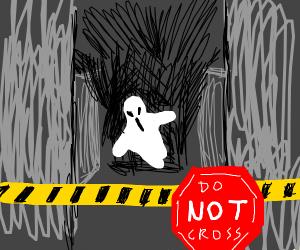 Do not cross: A dangerous activity is present