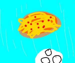falling pizza