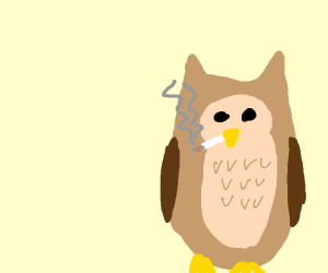 Owl smoking, don't do drugs, sub to pewds