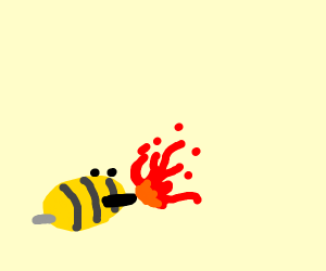 bee spitting fire
