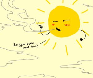 The sun actually vapes clouds--