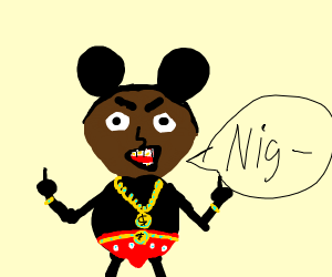 black mickey is going to say n word