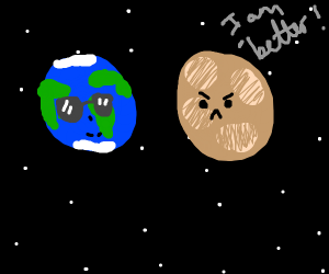 Cool earth and jealouse mars