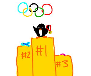 penguin wins olympics