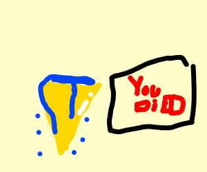 golden ice cream cone crying from minecraft