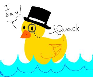 Gentlemanly Rubber Duck