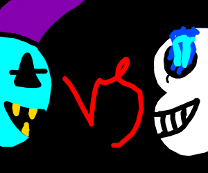 sans vs jevil :o