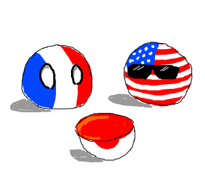 Franceball and U.Sball look at half Japanball