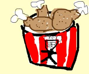 bucket o' KFC chicken