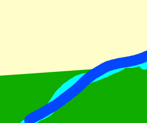 random river in open land
