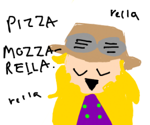 music notes, Pizza Mozerella Rella Rella