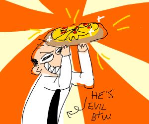 evil genius creates perfect pizza