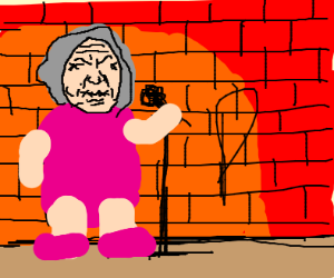 Angry hook grandma dying