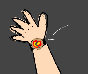 Pizza WristWatch