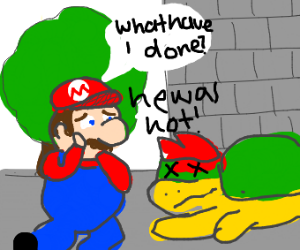 Oh no Mario killed bowser he was actually hot