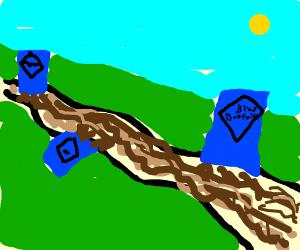 RIVER OF MANY BLUE BUFFALO