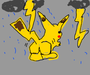pikachu is super thicc in a thunderstorm