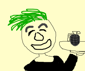 jacksepticeye with a granade