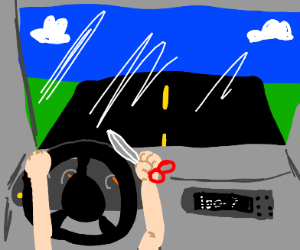 Driving with scissors