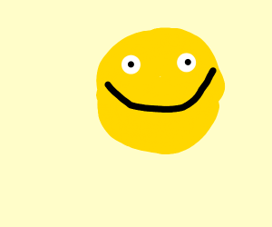 Happy face with giant smile