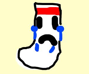 a sad sock