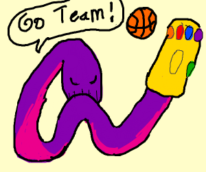 Thanos snake dabs for his basketball team