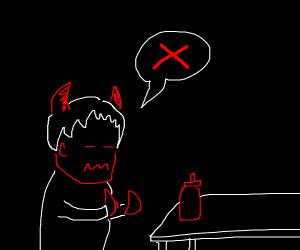 half-exorcized demon boi hates ketchup
