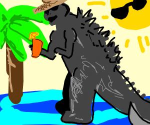 Godzilla going on vacation